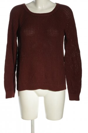 edc Grobstrickpullover pink Zopfmuster Casual-Look
