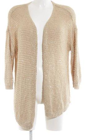 edc Crochet Cardigan cream cable stitch casual look