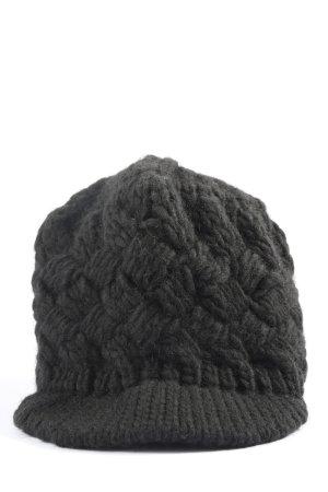 edc Szydełkowana czapka czarny Warkoczowy wzór W stylu casual