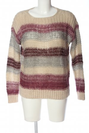 edc Crochet Sweater striped pattern casual look