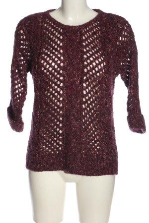 edc Gehaakte trui rood gestippeld casual uitstraling