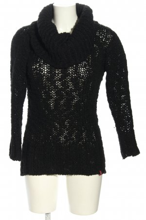 edc Crochet Sweater black casual look