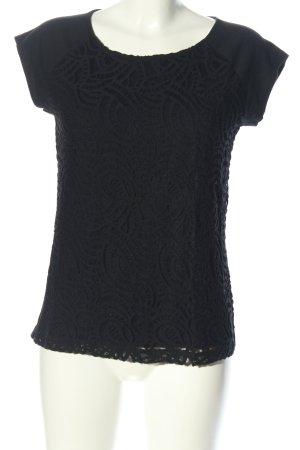 edc Gehaakt shirt zwart casual uitstraling
