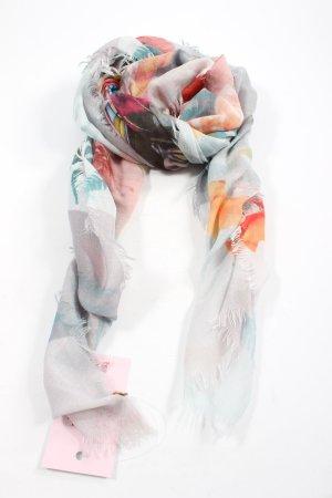 edc Halstuch hellgrau-hellorange abstraktes Muster Casual-Look