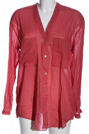 edc Hemd-Bluse rot-wollweiß Allover-Druck Casual-Look