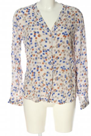 edc Hemd-Bluse Allover-Druck Casual-Look