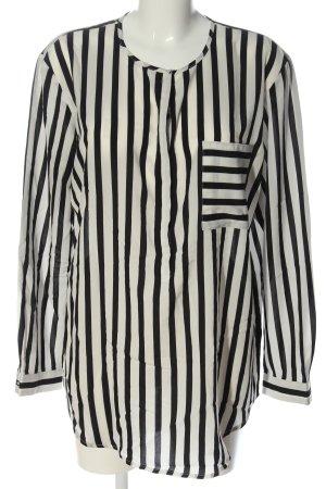 edc Hemd-Bluse wollweiß-schwarz Streifenmuster Casual-Look