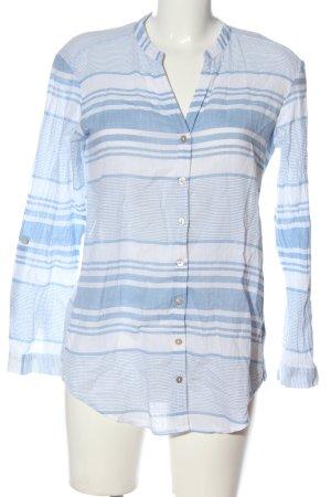 edc Hemd-Bluse weiß-blau Streifenmuster Casual-Look