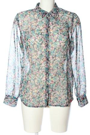edc Hemd-Bluse abstraktes Muster klassischer Stil
