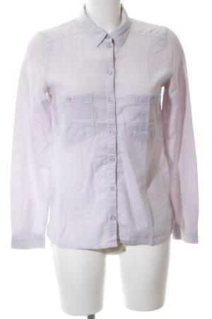edc Hemd-Bluse hellgrau-pink Casual-Look