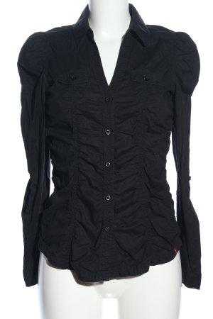 edc Hemdblouse zwart casual uitstraling