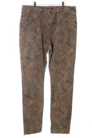 edc High-Waist Hose bronzefarben-khaki Allover-Druck Casual-Look