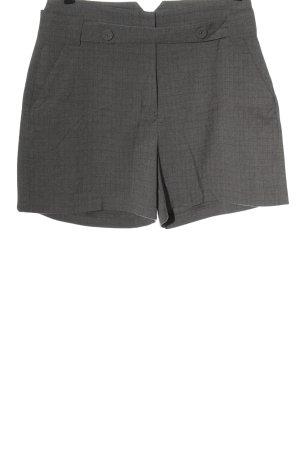 edc High-Waist-Shorts hellgrau Karomuster Casual-Look
