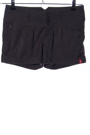 edc High-Waist-Shorts schwarz Casual-Look