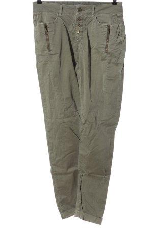 edc pantalón de cintura baja gris claro look casual