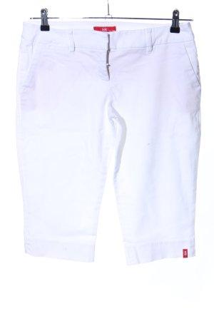 edc pantalón de cintura baja blanco look casual