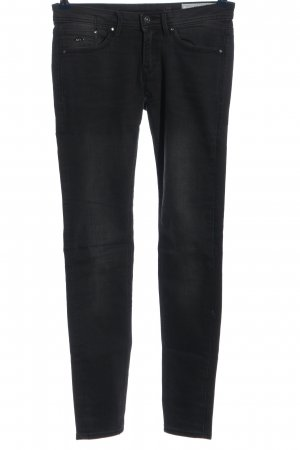 edc pantalón de cintura baja negro look casual