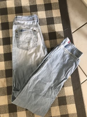 Edc Esprit Workowate jeansy biały-błękitny