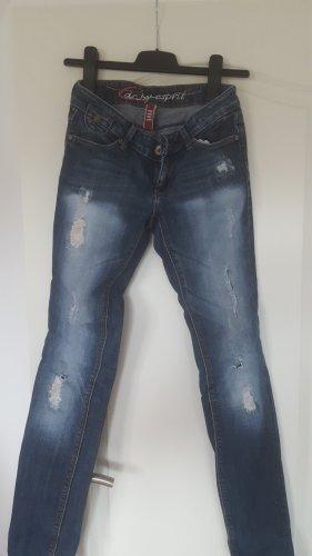 edc by Esprit Jeansy z prostymi nogawkami niebieski