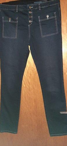 Edc Esprit Slim jeans zwart-wit Katoen