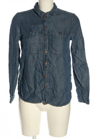 edc Denim Blouse blue flecked casual look