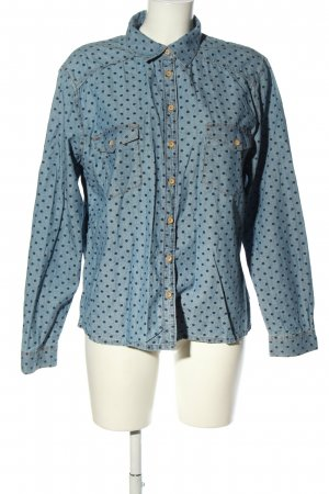 edc Denim Blouse blue allover print casual look