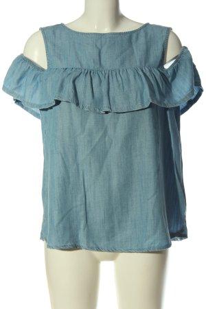 edc Jeansbluse blau Casual-Look