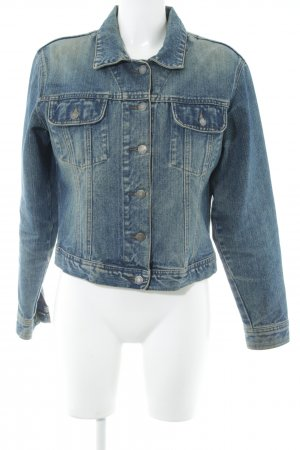 edc Jeansjacke blau-creme Country-Look
