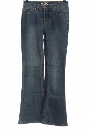 edc Jeansschlaghose blau Casual-Look