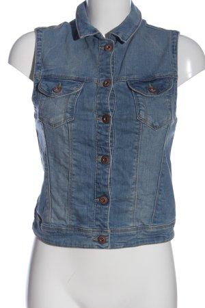 edc Jeansowa kamizelka niebieski W stylu casual
