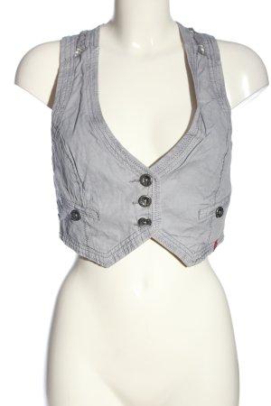 edc Gilet en jean gris clair style décontracté