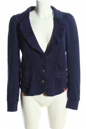 edc Jerseyblazer blau Business-Look