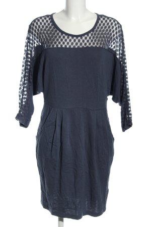 edc Jerseykleid blau Punktemuster Casual-Look