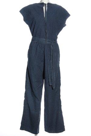edc Jumpsuit blau-weiß Streifenmuster Casual-Look