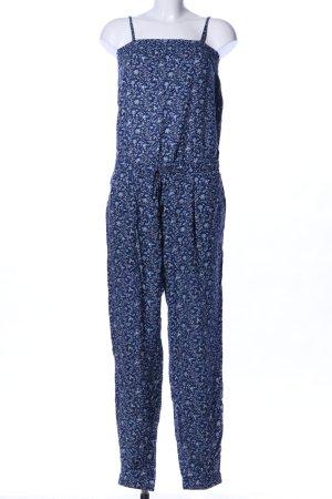 edc Jumpsuit blau Blumenmuster Casual-Look