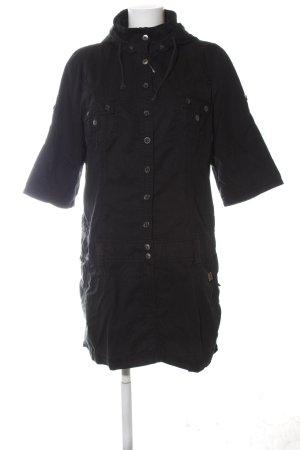 edc Vestido con capucha negro look casual