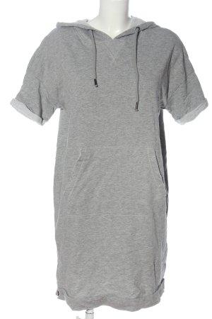 edc Robe à capuche gris clair moucheté style décontracté