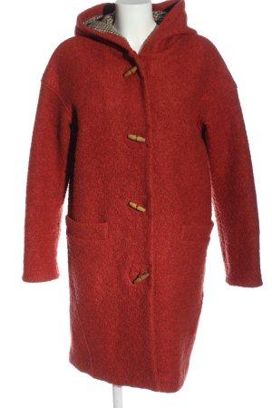 edc Cappotto con cappuccio rosso stile casual