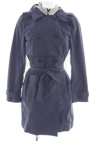 edc Manteau à capuche bleu style décontracté