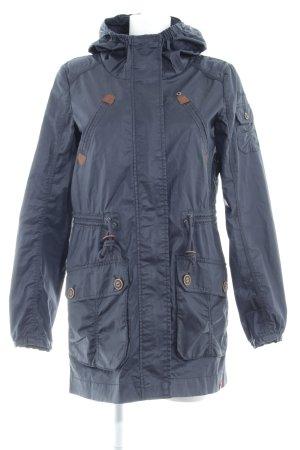 edc Abrigo con capucha azul oscuro Elementos metálicos