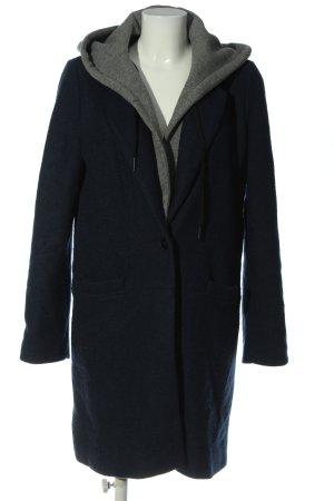 edc Abrigo con capucha azul-gris claro moteado look casual