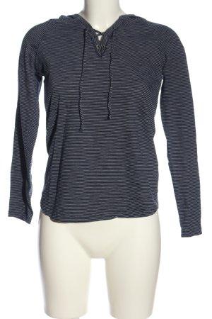 edc Camicia con cappuccio grigio chiaro-bianco stampa integrale stile casual