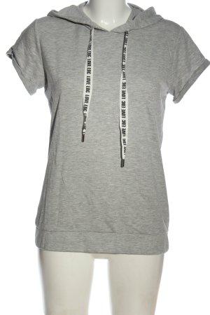edc Hooded Shirt light grey flecked casual look