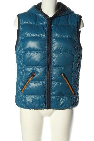 edc Smanicato con cappuccio blu motivo trapuntato stile casual
