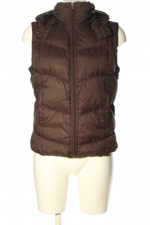 edc Hooded Vest brown quilting pattern casual look