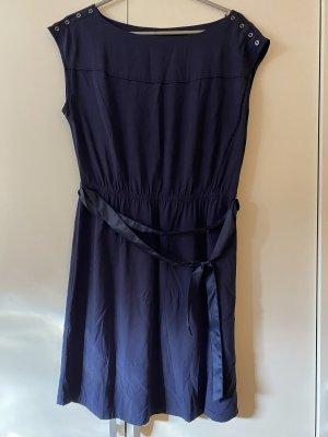 Edc Esprit Chiffon Dress dark blue