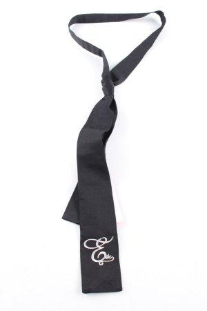 edc Szal krawatowy czarny-w kolorze białej wełny W stylu biznesowym