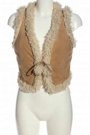 edc Fake Fur Vest khaki-white casual look