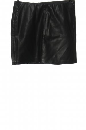 edc Faux Leather Skirt black casual look