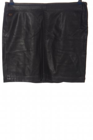 edc Spódnica z imitacji skóry czarny W stylu casual